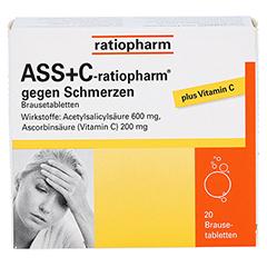 ASS+C-ratiopharm gegen Schmerzen 20 Stück - Vorderseite