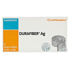 DURAFIBER Ag 4x10 cm Verband 5 Stück - Vorderseite