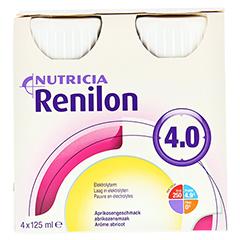 RENILON 4.0 Aprikosengeschmack flüssig 6x4x125 Milliliter - Vorderseite