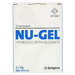 NU GEL Hydrogel med Alginat 3x15 Gramm - Vorderseite