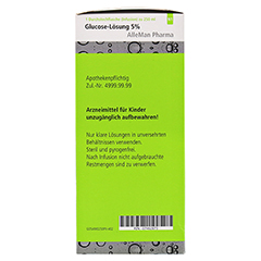 GLUCOSE 5% DELTAMEDICA Infusionslösung Plastikfl. 10x250 Milliliter N2 - Linke Seite