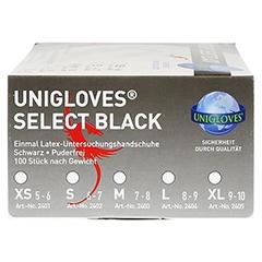 SELECT Einmal Latex Handsch.Gr.L black 100 Stück - Linke Seite