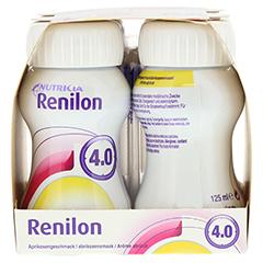 RENILON 4.0 Aprikosengeschmack flüssig 6x4x125 Milliliter - Linke Seite