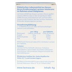 LACTRASE 6.000 FCC Tabletten im Klickspender 60 Stück - Rückseite