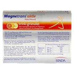 MAGNETRANS aktiv Multi Mineral Trink-Granulat 10 Stück - Rückseite