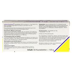 CALCIUM D3 biomo Kautabletten 500+D 50 Stück - Rückseite