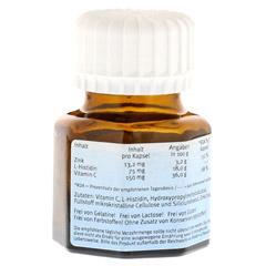 NATURAFIT Zink Histidin C Kapseln 30 Stück - Rückseite