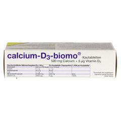 CALCIUM D3 biomo Kautabletten 500+D 50 Stück - Unterseite
