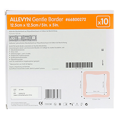 ALLEVYN Gentle Border 12,5x12,5 cm Schaumverb. 10 Stück - Rückseite