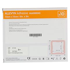 ALLEVYN Adhesive 7,5x7,5 cm haftende Wundauflage 10 Stück - Rückseite