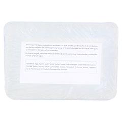 GLYCERINSEIFENBLOCK transparent 100 Gramm - Rückseite