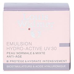 WIDMER Tagesemulsion Hydro-Active UV30 leicht parfümiert 50 Milliliter - Rückseite