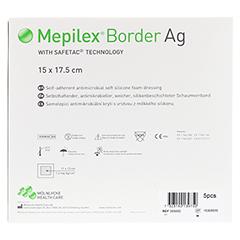 MEPILEX Border Ag Schaumverb.15x17,5 cm steril 5 Stück - Rückseite