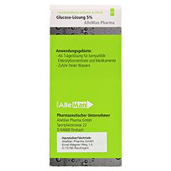 GLUCOSE 5% DELTAMEDICA Infusionslösung Plastikfl. 10x250 Milliliter N2 - Rückseite