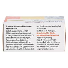 ASS+C-ratiopharm gegen Schmerzen 20 Stück - Oberseite