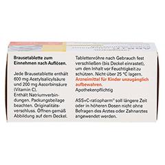 ASS+C-ratiopharm gegen Schmerzen 10 Stück - Oberseite