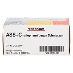 ASS+C-ratiopharm gegen Schmerzen 20 Stück - Unterseite