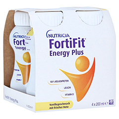 FORTIFIT Energy Plus Vanillegeschmack flüssig 4x200 Milliliter