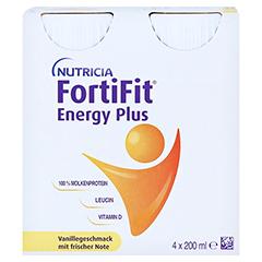 FORTIFIT Energy Plus Vanillegeschmack flüssig 4x200 Milliliter - Vorderseite