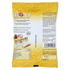 IBONS Ingwer Mango Tüte Kaubonbons 92 Gramm - Rückseite