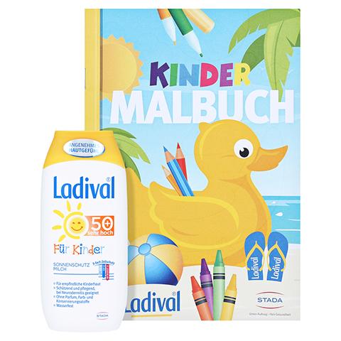 Ladival Kinder Sonnenmilch LSF 50+ + gratis Ladival Malheft 200 Milliliter