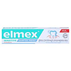ELMEX SENSITIVE sanftes Weiß Zahnpasta 75 Milliliter - Vorderseite