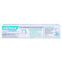 ELMEX SENSITIVE sanftes Weiß Zahnpasta 75 Milliliter - Rückseite
