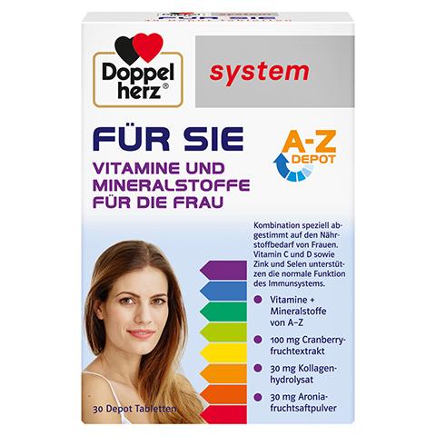 Doppelherz system FÜR SIE Vitamine und Mineralstoffe für die Frau 30 Stück