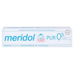 MERIDOL Pur Zahnpasta 75 Milliliter - Vorderseite