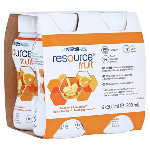 RESOURCE Fruit Orange 4x200 Milliliter