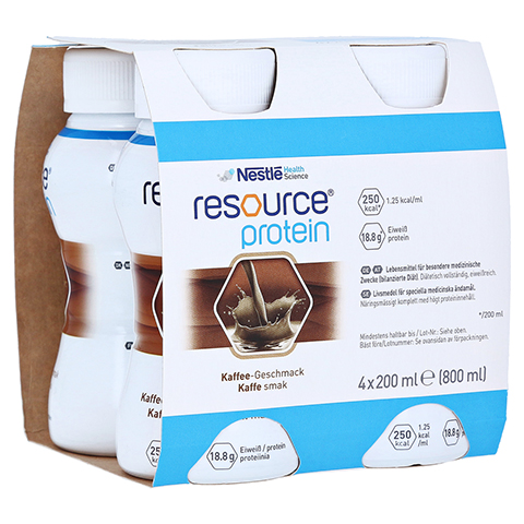 RESOURCE Protein Drink Kaffee 4x200 Milliliter