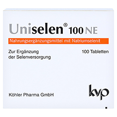 UNISELEN 100 NE Tabletten 1x100 Stück - Vorderseite