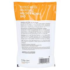 DERMASEL Totes Meer Badesalz+Milch&Honig SPA 1 Packung - Rückseite