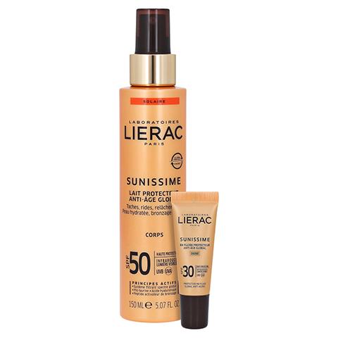 LIERAC Sunissime Körper LSF 50 Creme + gratis LIERAC Sunissime BB-Fluid 30 SPF 10 ml 150 Milliliter