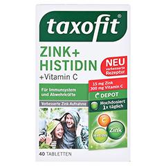 Taxofit Zink+histidin Depot Tabletten 40 Stück - Vorderseite