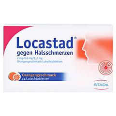 Locastad gegen Halsschmerzen 2mg/0,6mg/1,2mg Orange 24 Stück N1 - Vorderseite