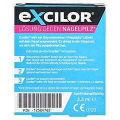 Excilor Lösung Gegen Nagelpilz 1x3.3 Milliliter - Rückseite