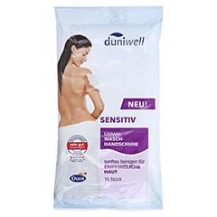 DUNIWELL Einmal Waschhandschuhe sensitiv 15 Stück