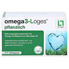 Omega3-loges Pflanzlich Kapseln 120 Stück - Vorderseite