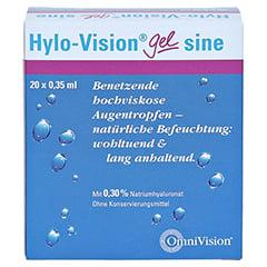 HYLO-VISION Gel sine Einzeldosispipetten 20x0.35 Milliliter - Vorderseite