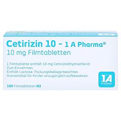Cetirizin 10-1A Pharma 100 Stück N3 - Unterseite