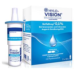 HYLO-VISION SafeDrop 0,1% Augentropfen 2x10 Milliliter