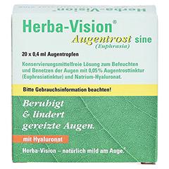 HERBA-VISION Augentrost sine Augentropfen 20x0.4 Milliliter - Vorderseite