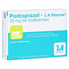 PANTOPRAZOL-1A Pharma 20mg bei Sodbrennen msr.Tab. 7 Stück