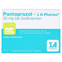 PANTOPRAZOL-1A Pharma 20mg bei Sodbrennen msr.Tab. 7 Stück - Vorderseite