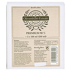 OLIVENBLATT-Extrakt Premium 90% Doppelpack 2x100 Milliliter - Vorderseite