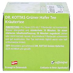 GRÜNER HAFERTEE mit Kakaoschalen Dr.KOTTAS Fbtl. 20 Stück - Linke Seite