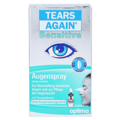 TEARS Again Sensitive Augenspray 10 Milliliter - Vorderseite