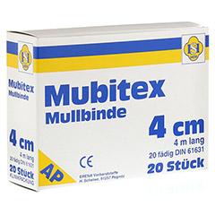 MUBITEX Mullbinden 4 cm ohne Cello 20 Stück