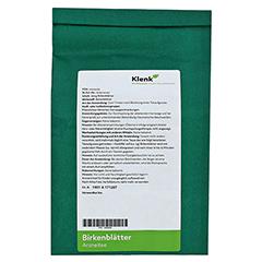 BIRKENBLÄTTER Tee 250 Gramm - Rückseite